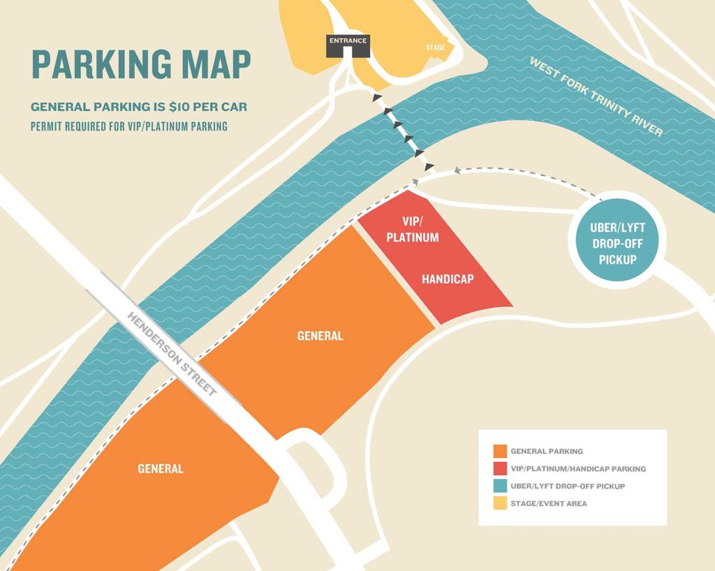 River & Blues Parking Map