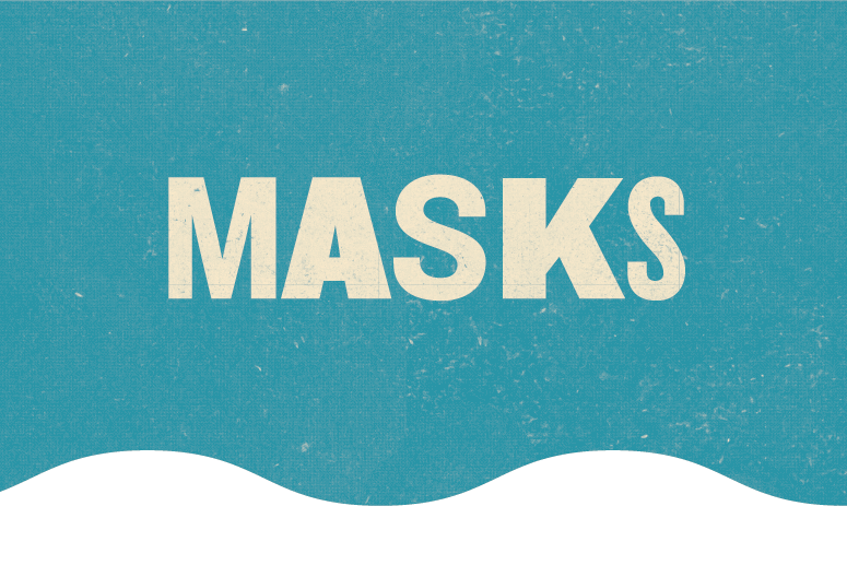 Masks at River and Blues Festival